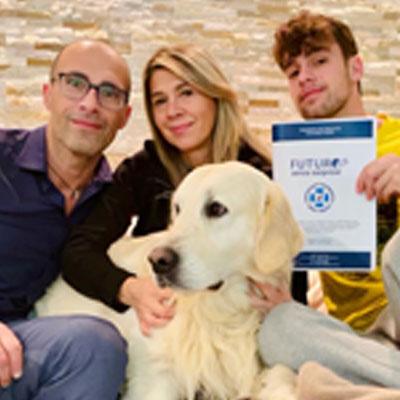 Stefano Poppi e famiglia